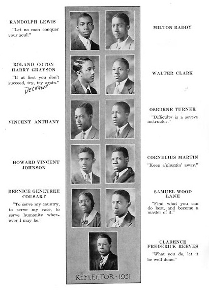 Washington Dc Genealogy 1931 Armstrong High School Yearbook