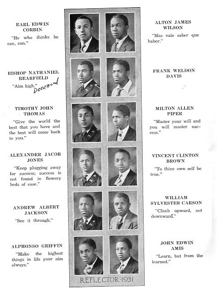 Washington Dc Genealogy 1931 Armstrong High School Yearbook