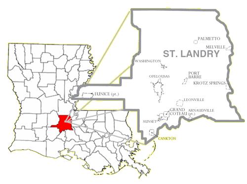 Opelousas Louisiana Map.St Landry Parish Lagenweb